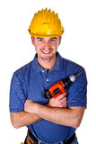 Young caucasian man tool 02 Royalty Free Stock Photos