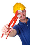 Young caucasian man tool 04 Stock Photos