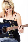 Young Caucasian musician Stock Image