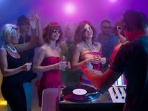 Young caucasian people dancing at party Royalty Free Stock Photo