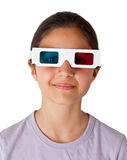 Young Caucasian teen with glasses 3d Royalty Free Stock Photos