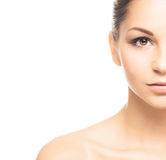 A young Caucasian woman in beautiful makeup Royalty Free Stock Photos
