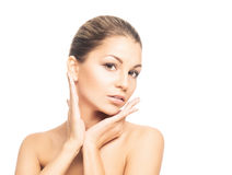A young Caucasian woman in beautiful makeup Stock Photo