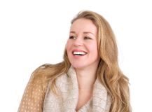 Young caucasian woman laughing Royalty Free Stock Image