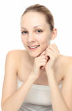Young Caucasian woman smile Stock Photography