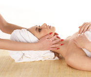 A young Caucasian woman on a spa procedure Royalty Free Stock Photography