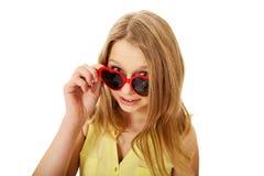 Young caucasian woman wearing sunglasses Stock Photos