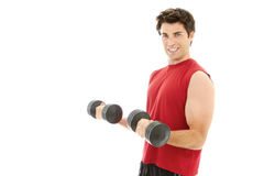 Young caucasion male doing a workout Royalty Free Stock Photography