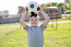 Young caucassian soccer player football Royalty Free Stock Images
