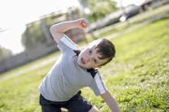 Young caucassian soccer player football Royalty Free Stock Photos