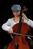 Young cellist Royalty Free Stock Photo