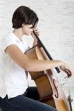 Young cello player Stock Photo