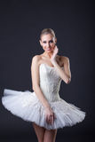 Young charming ballerina posing smiling at camera Royalty Free Stock Photo