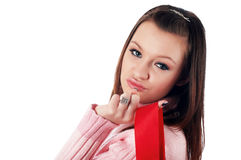 Young charming brunette Royalty Free Stock Images