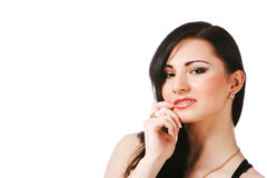 Young Charming Brunette Woman Stock Photography