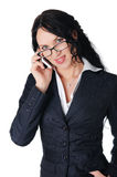 Young charming business woman Royalty Free Stock Photography