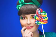 Young charming plump woman Royalty Free Stock Image