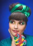 Young charming plump woman Stock Photos