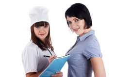 The young charming staff nurse Royalty Free Stock Photo