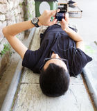 Young at chat Stock Photography