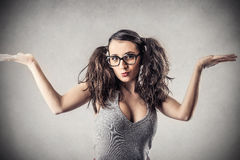 Young cheeky woman Stock Image