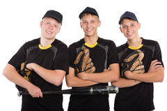 Young cheerful baseball players Stock Photos