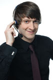 Young cheerful business customer service represent Royalty Free Stock Photography
