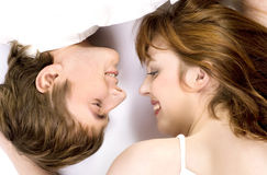 Young cheerful couple Royalty Free Stock Image