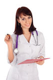 Young Cheerful Female Doctor Royalty Free Stock Photo
