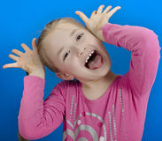 Young cheerful girl Royalty Free Stock Photos