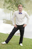 Young cheerful groom Stock Image