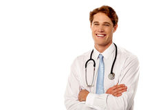 Young cheerful male doctor Royalty Free Stock Photography