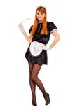 Young cheerful redhead maid Stock Images