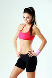 Young cheerful sport woman standing Stock Photography