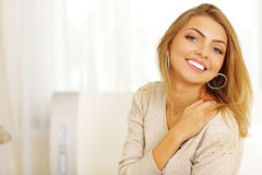 Young cheerful woman Stock Image
