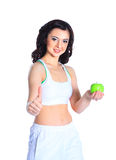 Young cheerful woman in sports wear Royalty Free Stock Photos