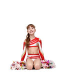 Young cheerleader girl Royalty Free Stock Image