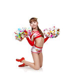 Young cheerleader girl Royalty Free Stock Images
