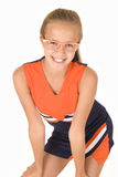 Young cheerleader with trendy glasses Royalty Free Stock Images