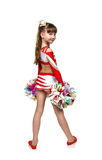 Young cheerleading girl Royalty Free Stock Photography