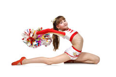 Young cheerleading girl Royalty Free Stock Photo