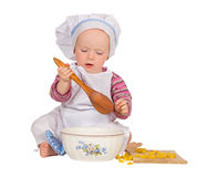Young chef baking royalty free stock photography