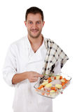 Young chef caucasian, tenderloin piece Stock Photography