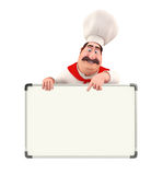 Young chef with display board Stock Images