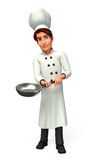 Young Chef with frying pan Royalty Free Stock Photo