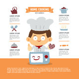 Young chef infographic Stock Images