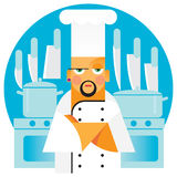 Young chef of the Italian restaurant vector illustration