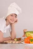 Young chef at kitchen Royalty Free Stock Photo