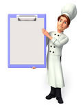 Young chef with notepad Stock Image