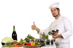 Young Chef Preparing Lunch Stock Photography